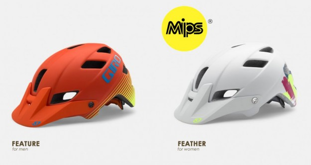 2015 Giro Feature and Feather MIPS MTB Helmets
