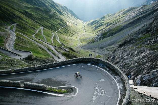 Mike Cotty climbs Stelvio Pass - The Road to Mont-Blanc