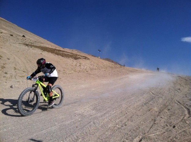 Turner King Kahn Full-suspension Fatbike Racing at Mammoth Kamikaze