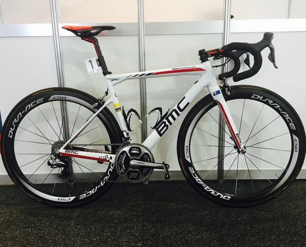 Cadel Evans' Custom BMC SLR01 at 2015 Santos Tour Down Under